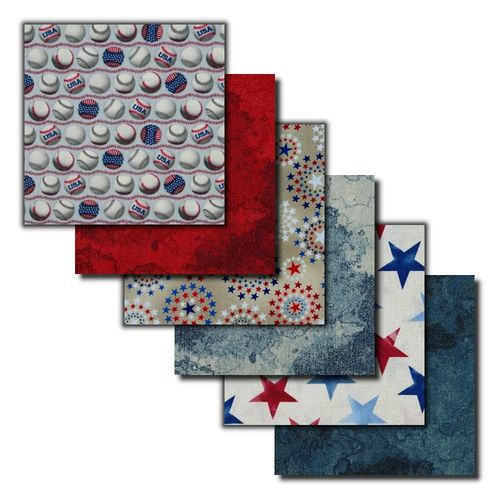 Red White & Blue Fat Quarters