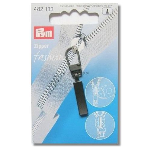 Fashion-Zipper schwarz
