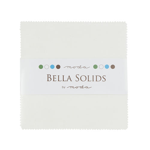 Bella Solids White Bleached Charm Pack