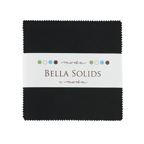 Bella Solids Black Charm Pack
