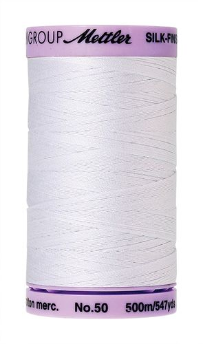 Mettler Silk Finish 50 White, 500m