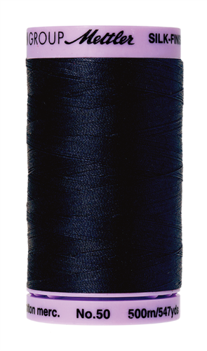Mettler Silk Finish 50 Dark Blue, 500m