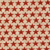 Patriotic Stars Red on Cream