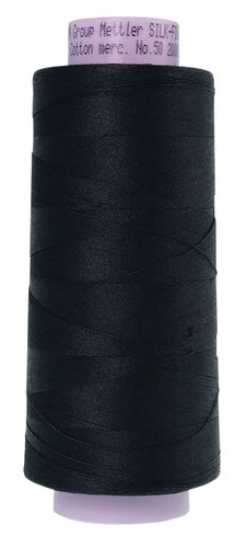 Mettler Silk Finish 50 Black, 1829m