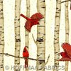Winter Cardinals Natural/Gold