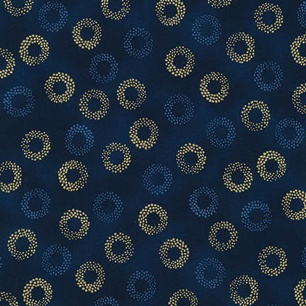 Sparkling Circles Gold/Navy