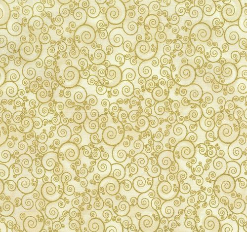 Scroll gold/cream
