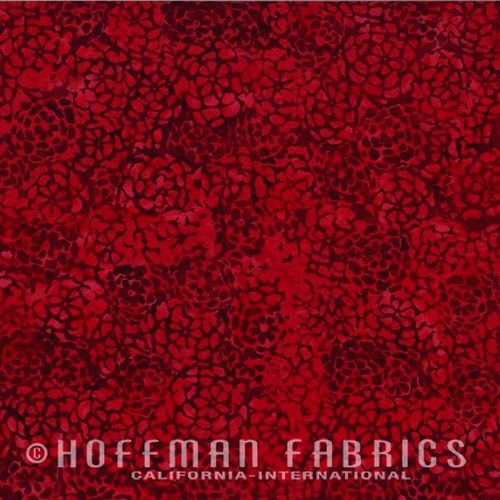 Tonal Flowers Red Velvet