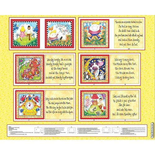 Nursery Rhymes Soft Book Panel