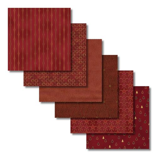 Christmas Red/Gold Fat Quarters