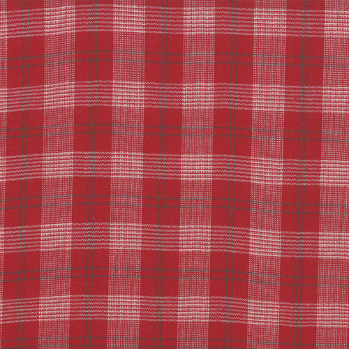 Silky Cotton Checks Scarlet