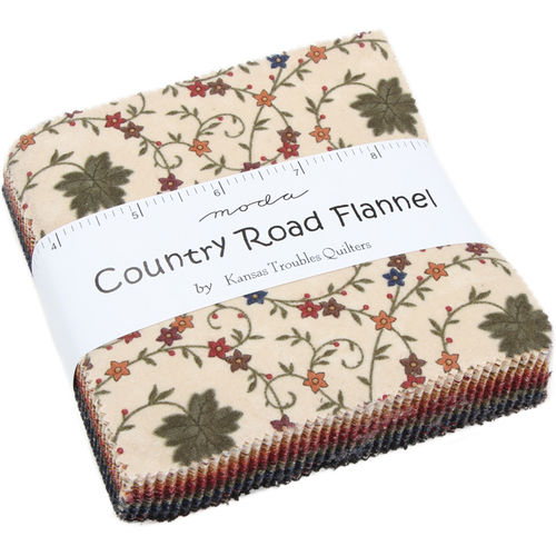 Country Road Flannel Charm Pack