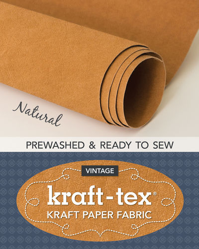 Kraft-Tex Vintage Paper Fabric Natural