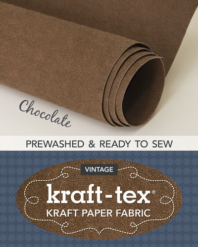 Kraft-Tex Vintage Paper Fabric Chocolate