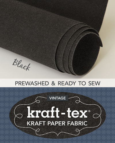 Kraft-Tex Vintage Paper Fabric Black