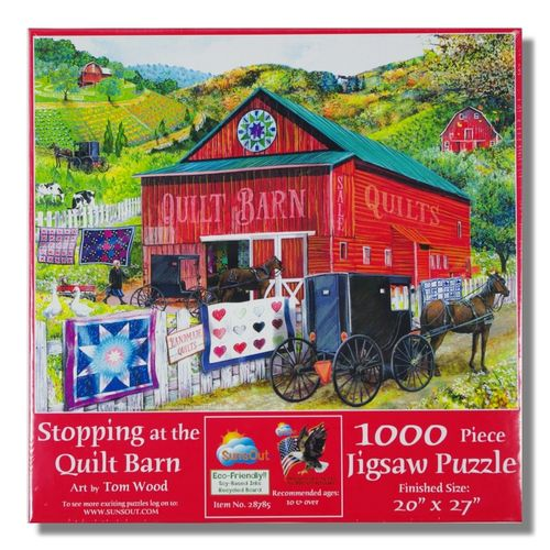 Stopping at the Quilt Barn Puzzle, 1000 Teile