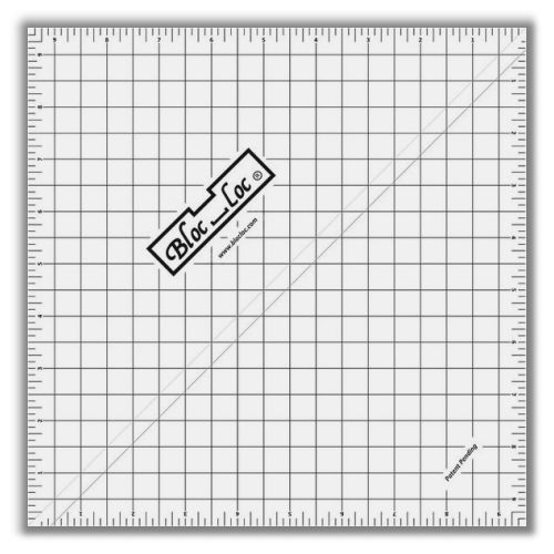 Half Square Triangle Ruler 9.5""