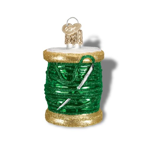 Spool of Thread Ornament Green