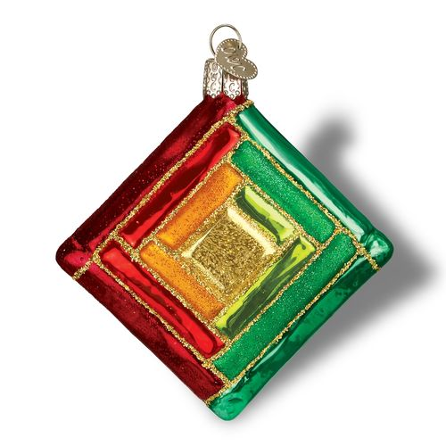 Quilt Square Ornament Log Cabin