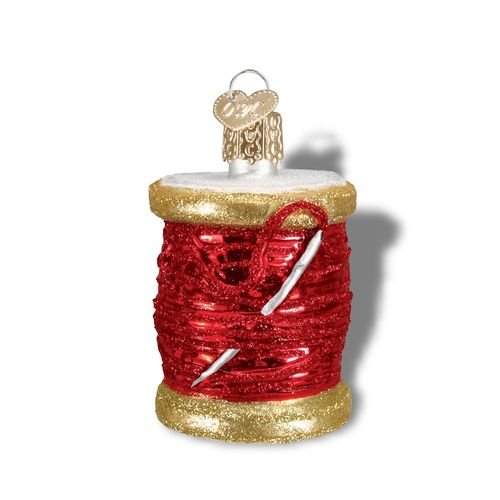 Spool of Thread Ornament Red