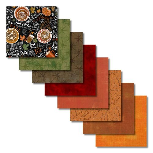 Harvest Coffee Fat Quarters