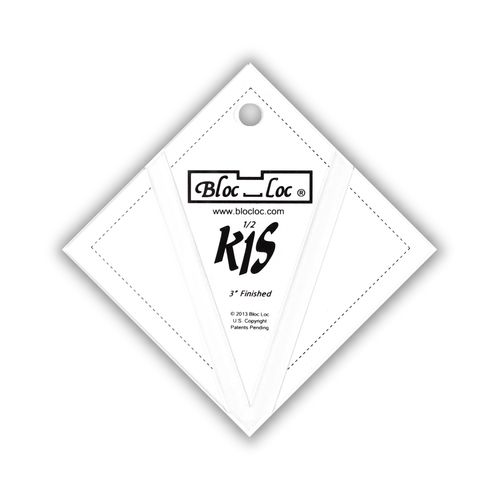 "Kite in a Square Ruler Set 3"" x 3"""