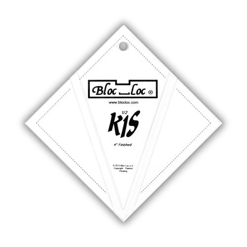 "Kite in a Square Ruler Set 4"" x 4"""