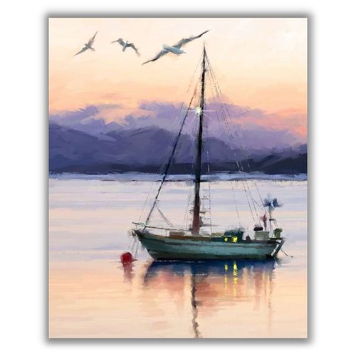 Sailboat on Lake Panel