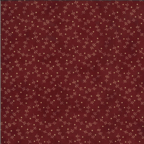 Whirly Flower Dark Red