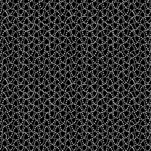 Dot Waves Black/White