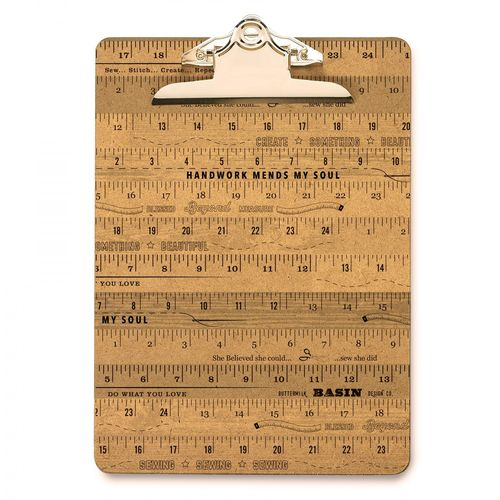 Stacy West Wood Ruler Clipboard Large